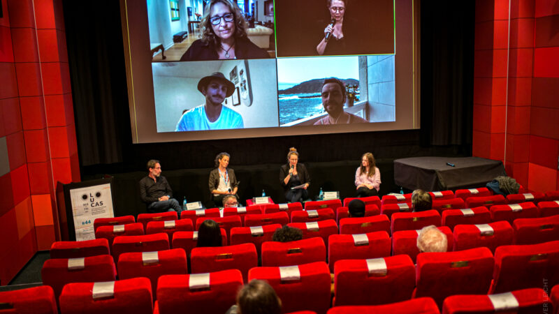 """Das zweite Panel des Tages: """"Facing Reality: Documentaries for Young Audiences"""". © Oliver Leicht"""